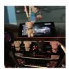 汽车出风口香水夹车载香薰车内可爱小熊创意车用空调镶钻饰品摆件